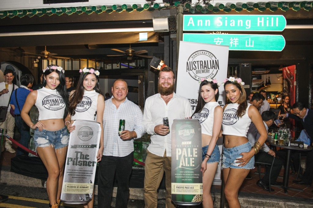 Founder Marcello Colosimo and Sales Manger David Ward in Singapore - Photo Supplied by Australian Brewery